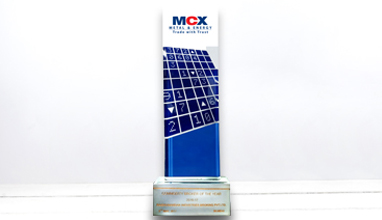 Winner of 'Commodity Broker of the Year 2016-17' from MCX Exchange